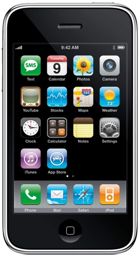 An iPhone 3G (The second generation iPhone)