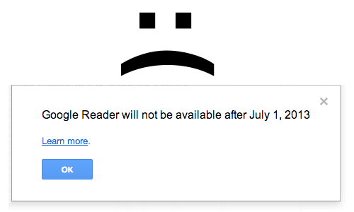 Google Reader will die on July 1
